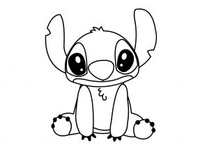 Disney Cute Lilo Stitch Coloring Pages High Resolution Printable Page