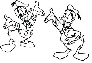 Donald Duck Coloring Pages Disney Printable Coloring Sheets