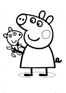 Easy to Draw and Color Peppa Pig Coloring Pages
