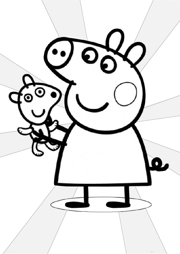 Easy to Draw and Color Peppa Pig Coloring Pages - Print Color Craft