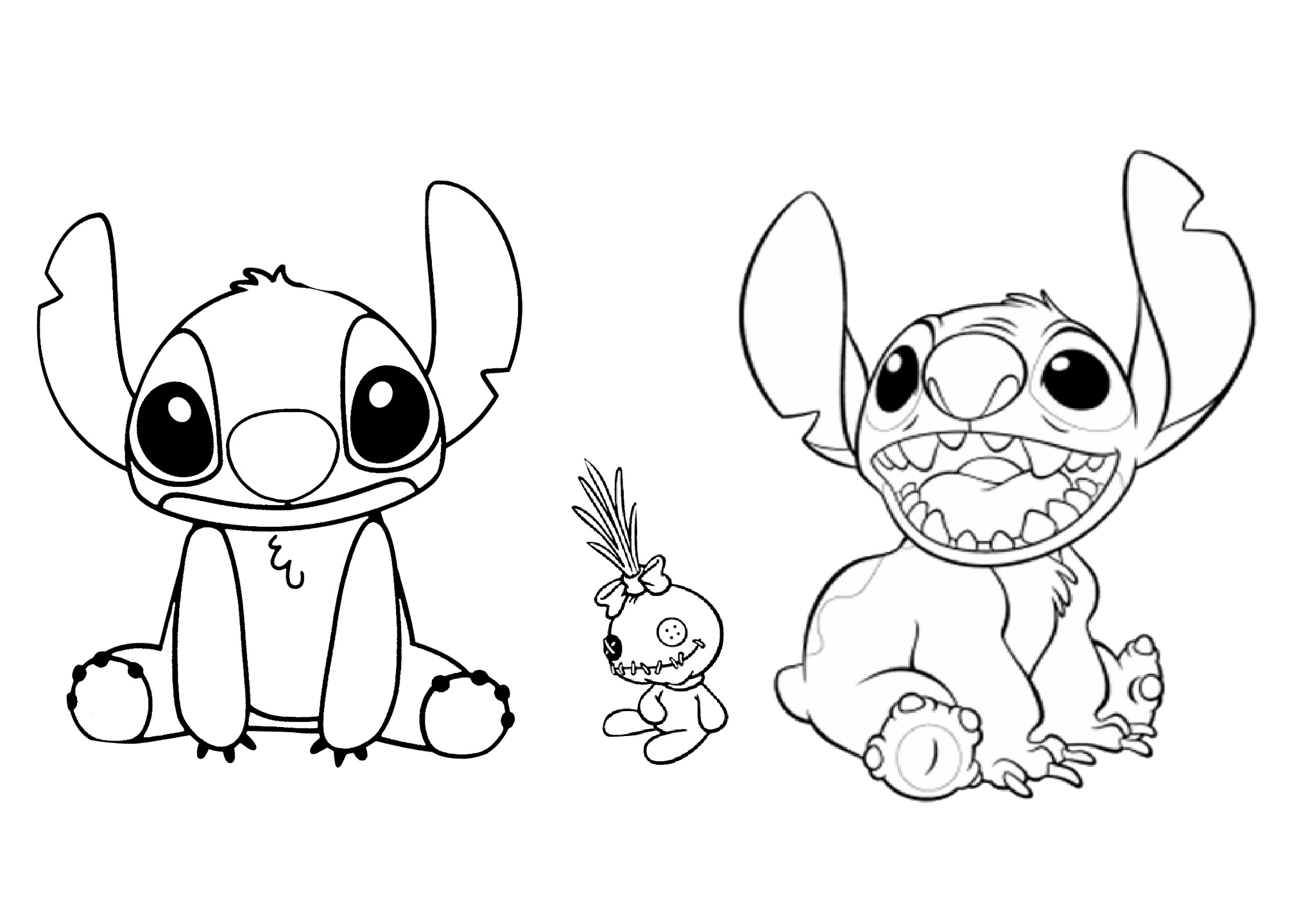 Lilo Stitch Lilo Coloring Pages Disney Characters Coloring For Kids