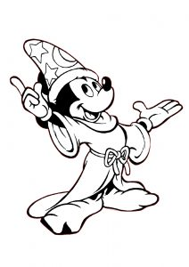 Mickey Mouse Magician Coloring Pages for Kids