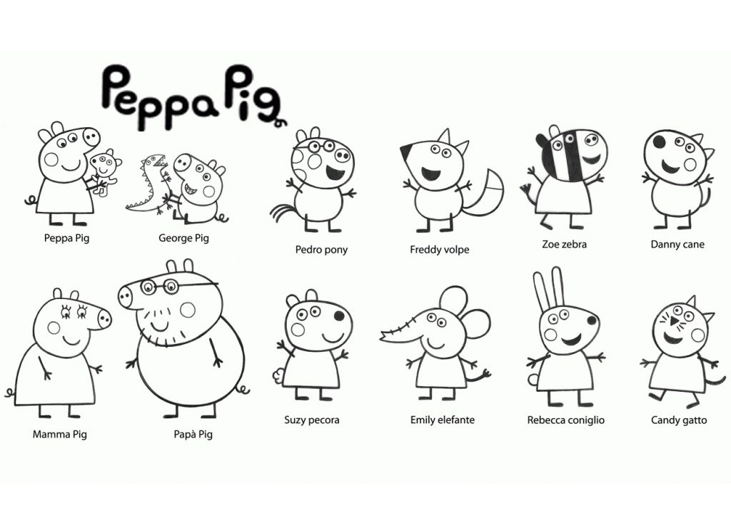 24 Peppa Pig Coloring Pages to Print and Color - Print Color Craft