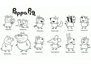 24 Peppa Pig Coloring Pages to Print and Color