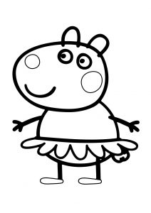 Peppa Pig Suzy Sheep Coloring Pages Suzy Peppas Best Friend She Loves her Owl Soft Toy