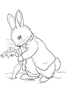 Sad looking Peter the Rabbit Coloring Pages