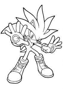 Silver the Hedgehog Spin Attack and Homing Attack Sonic the Hedgehog Coloring Pages