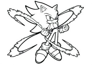 Sonic to Super Sonic Fast Hedgehog Coloring Pages