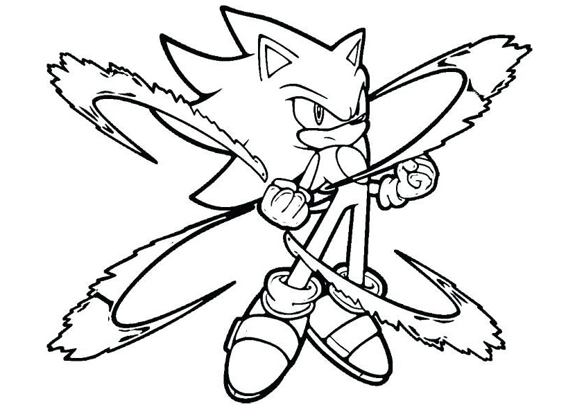 Sonic To Super Sonic Fast Hedgehog Coloring Pages Print Color Craft