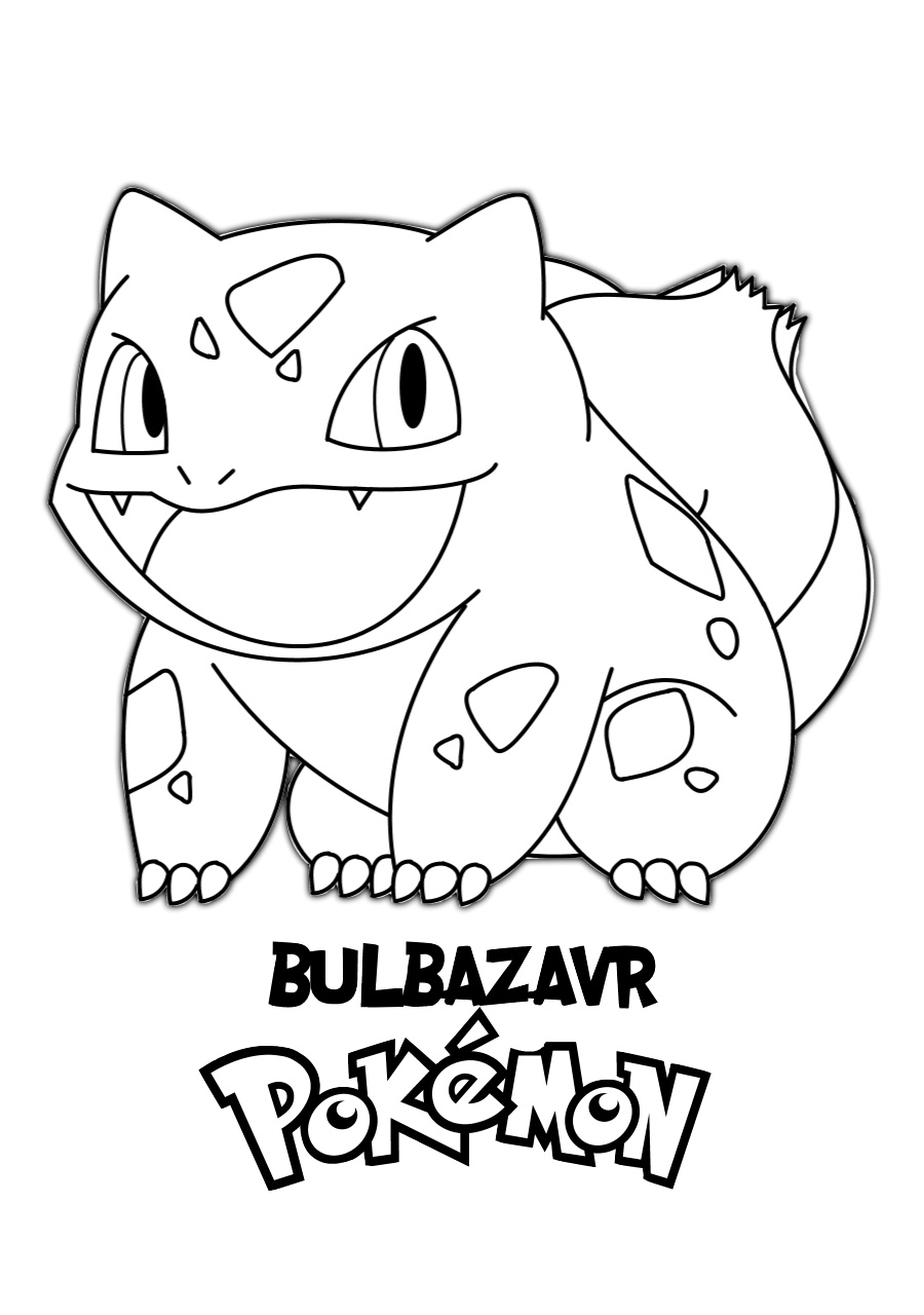 Adorable Little Blubazavr Pokemon Printable Coloring Page