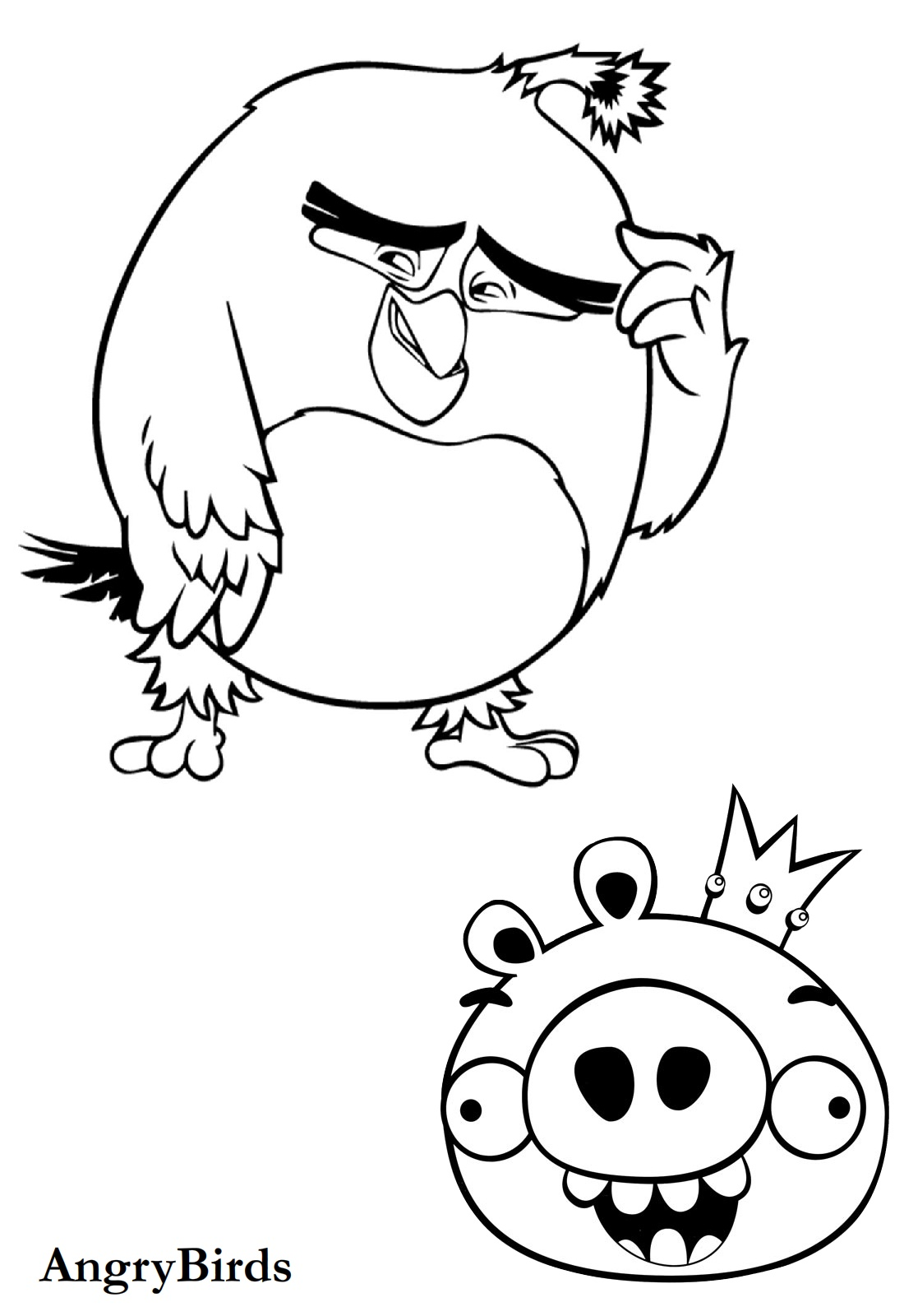 Angry Birds coloring page | Free Printable Coloring Pages | 1600x1100