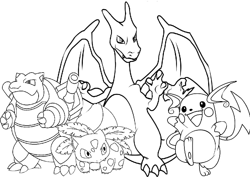 Pokemon Coloring Pages - Trainer Ash Pokeball Characters
