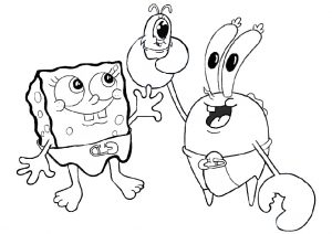 Baby Character Spongebob Plankton and Krab Coloring Pages