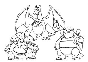 Big and Mighty Pokemon Coloring Page for Kids