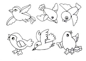 Birds Flying Coloring Pages