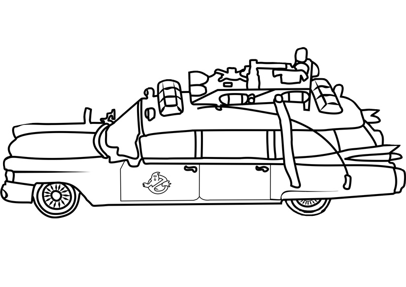 Car Ghostbusters Coloring Pages