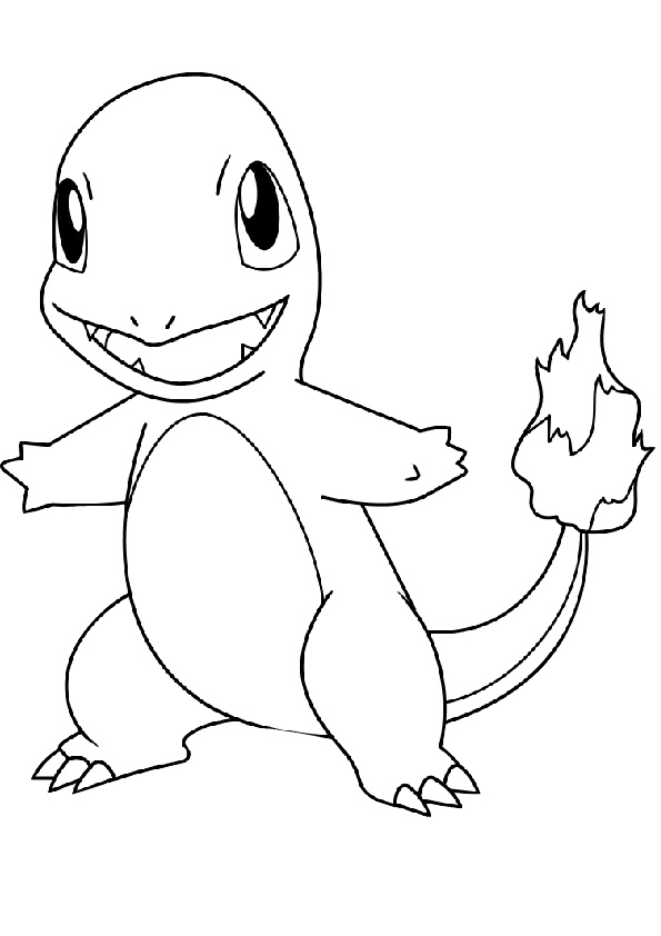 Charmander Fire Type Pokemon Coloring Pages