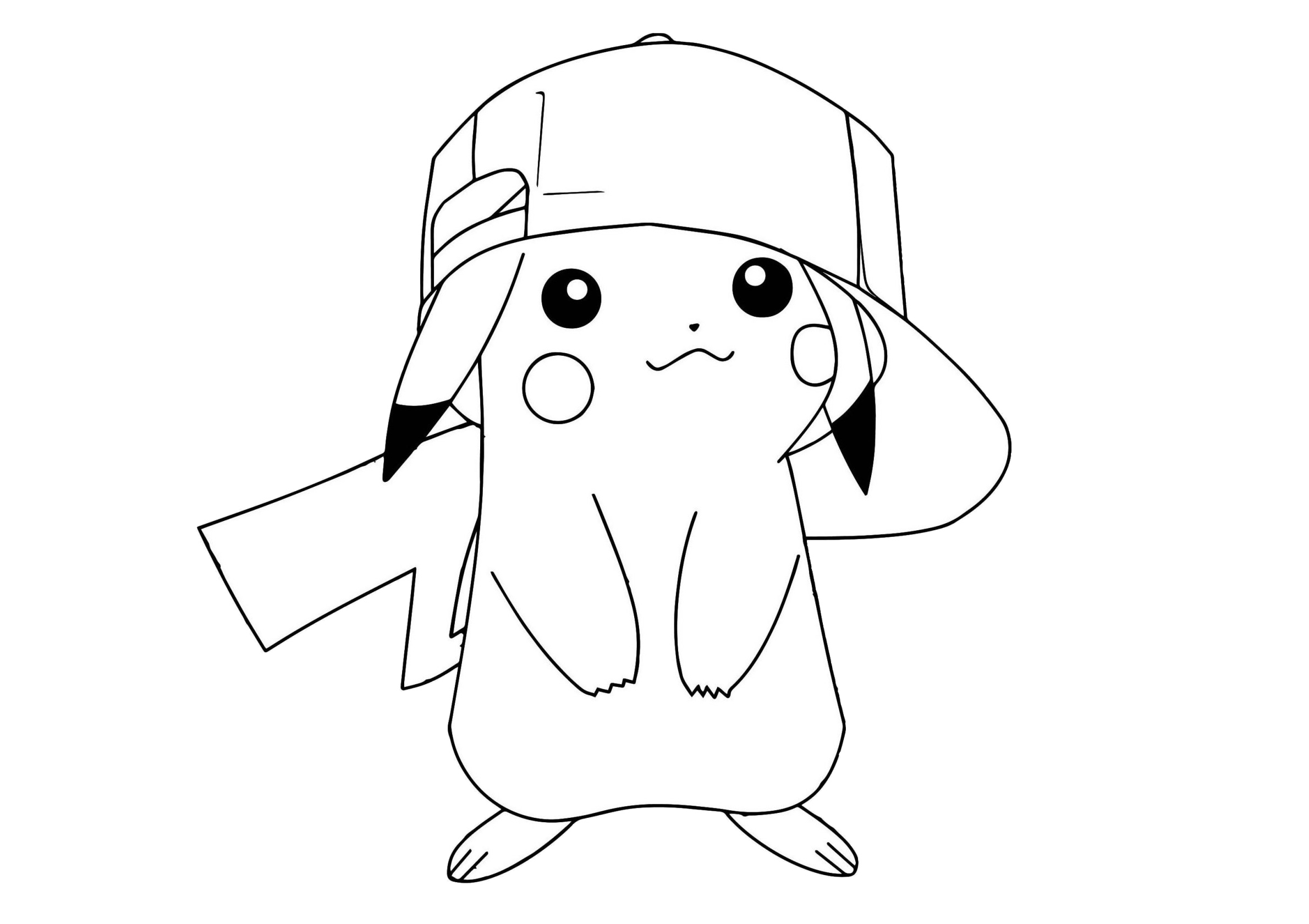 Cute Little Pikachu Pokemon Coloring Pages