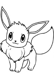 Cute Looking Pokemon Eevee Coloring Pages