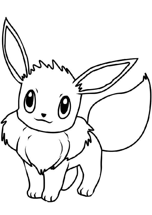 Cute Looking Pokemon Eevee Coloring Pages