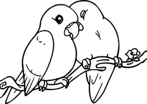Cute Love Birds Coloring Pages