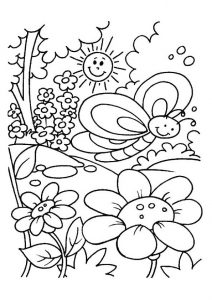 Easy Spring Season Flowers and Blooms Coloring Pages