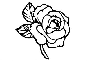 Easy and Simple Rose Flower Coloring Pages
