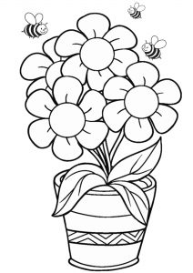 Free Flower Coloring Pages for Kids Printable PDF
