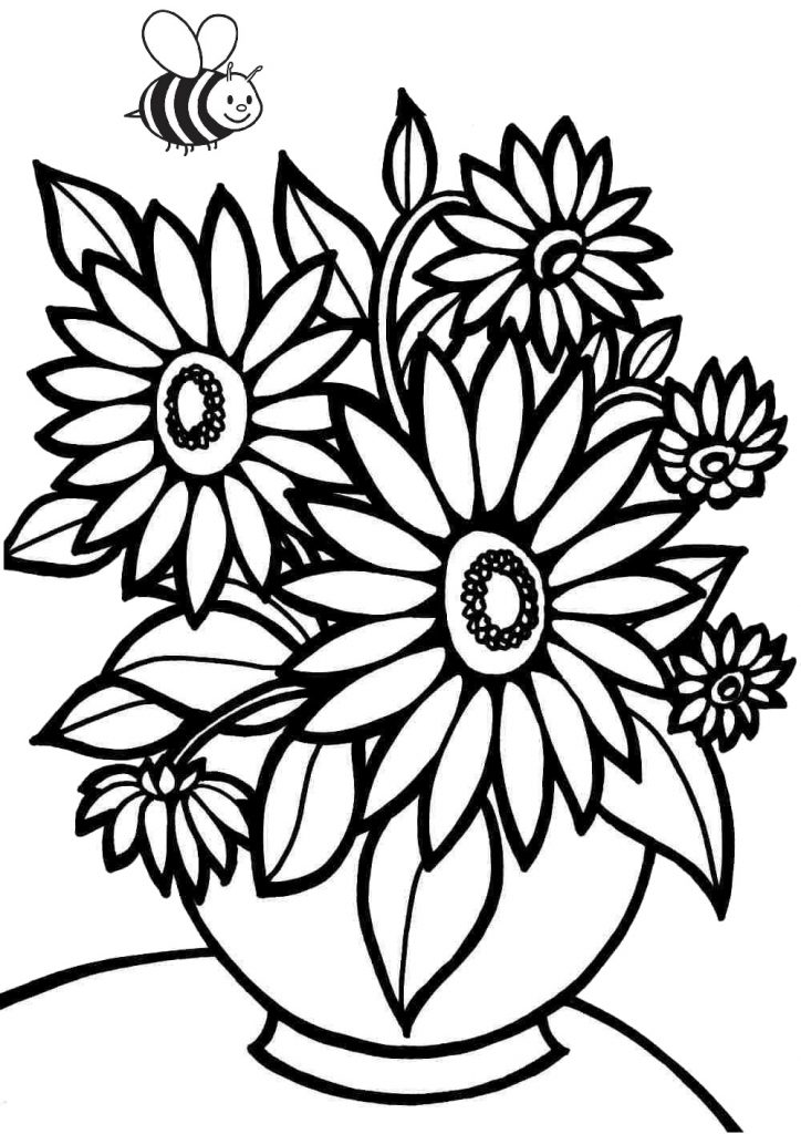 36 Printable Flower Coloring Pages for Adults & Kids