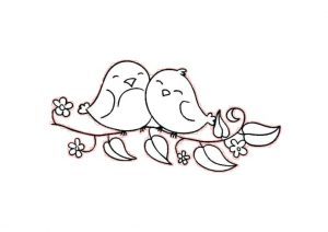 Free Printable Happy Smiling Birds Coloring Pages
