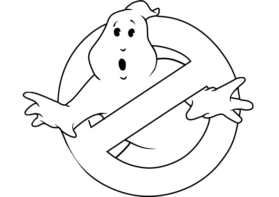 Ghostbusters Logo No Ghost Printable Ghostbusters Coloring Pages