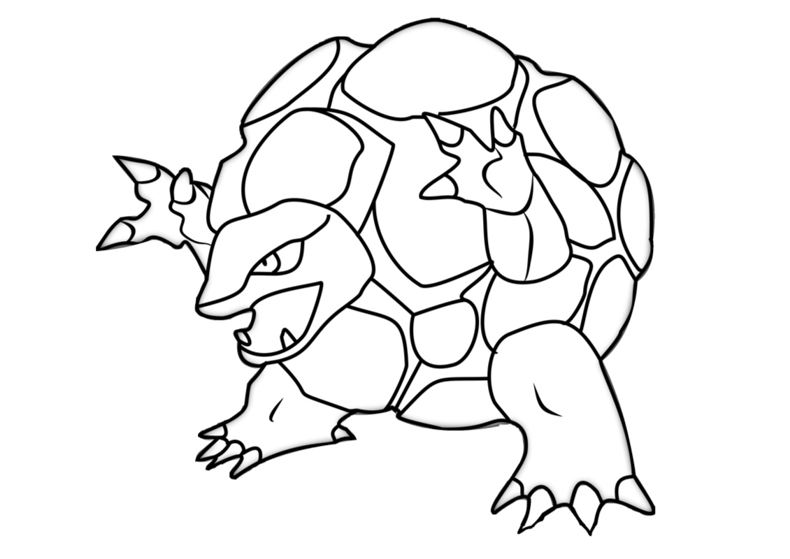 Golem Rock Type Pokemon Coloring Page