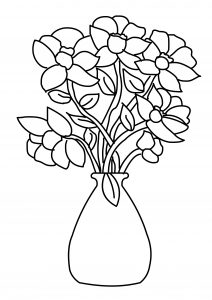 High Resolution Flower Coloring Pages for Kids