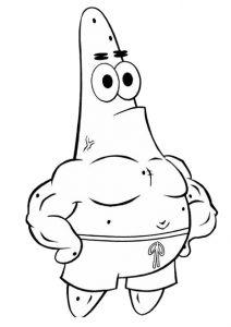 Humorous Starfish Patrick Coloring Pages Spongebobs Pal