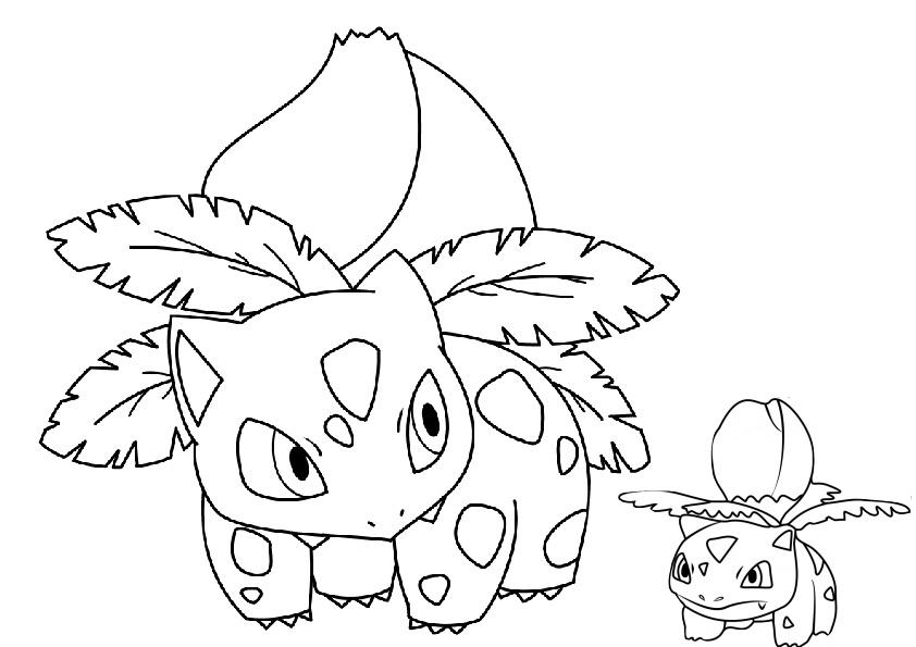 Ivysaur Pokemon Coloring Pages