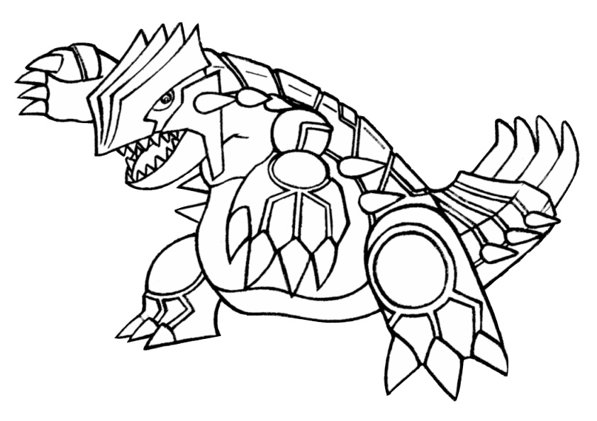 Legendary Pokemon Coloring Page
