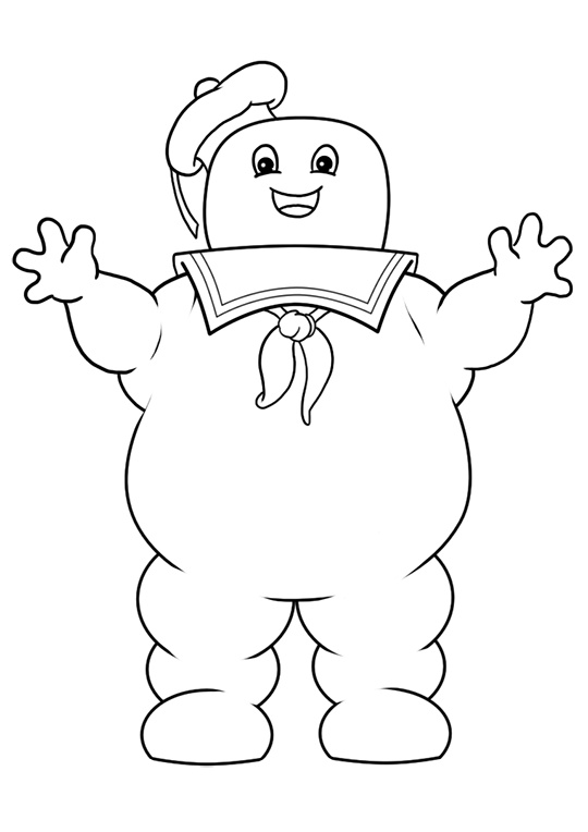 Marshmallow Man Ghostbusters Printable Coloring Pages