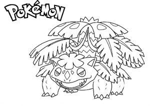 Mega Venusaur Pokemon Coloring Pages