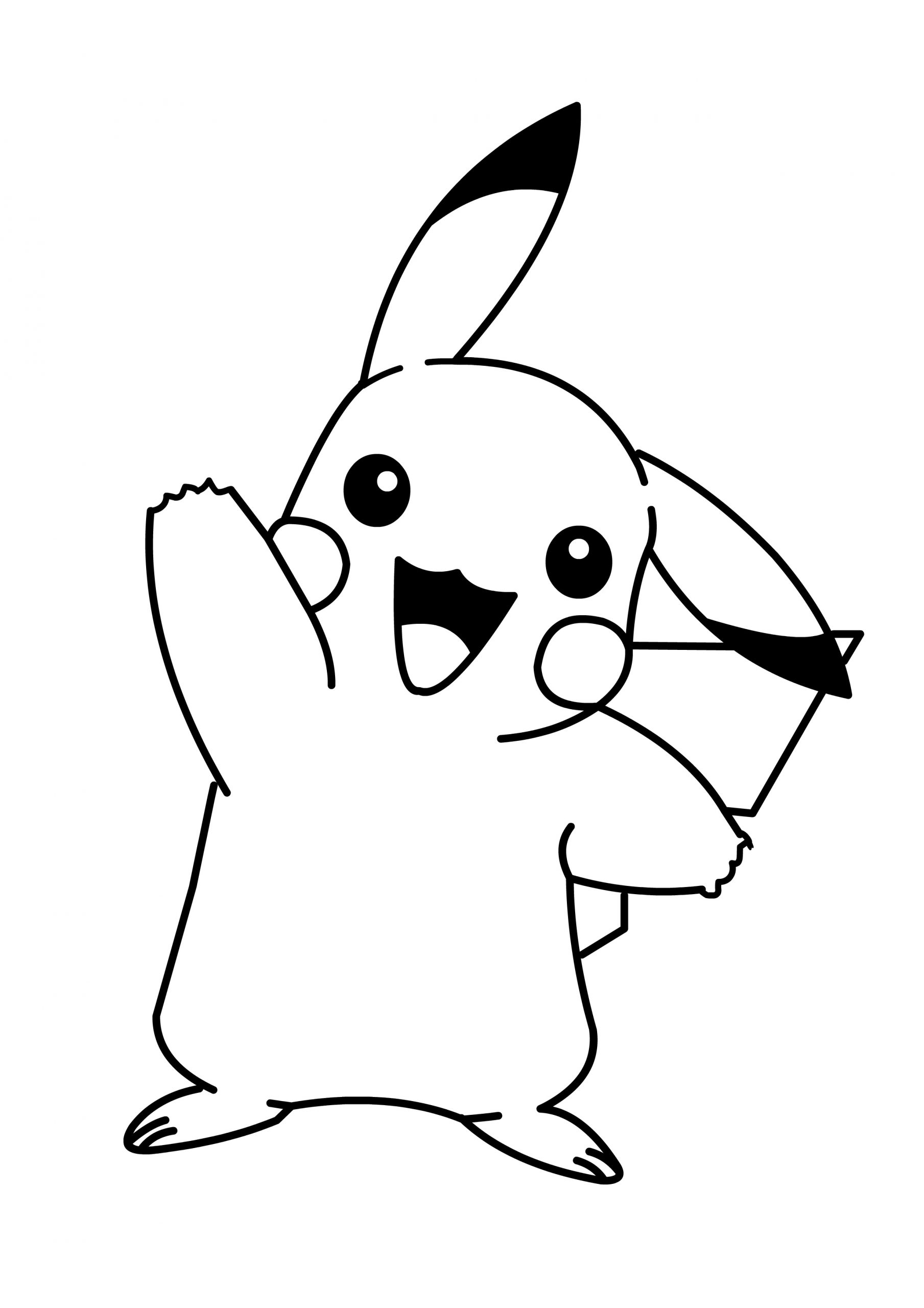 Pikachu Cute Pokemon Coloring Pages