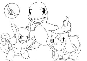 Pokeball and Cute Pokemon Coloring Pages