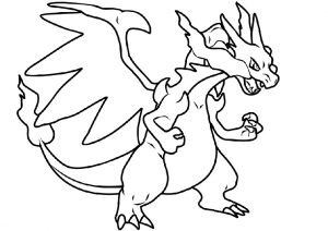 Printable Charizard Coloring Pages for Free - Free Pokemon ... | 212x300
