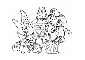 Printable Spongebob Coloring Pages All Cartoon Characters