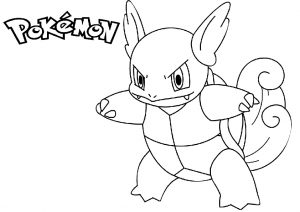 Squirtle Wartotle Pokemon Water-type Coloring Pages
