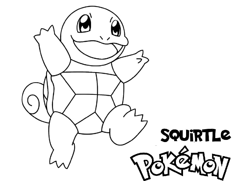 Squirtle Water Pokemon Coloring Pages