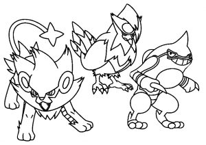 Ultimate Pokemon Characters Coloring Page