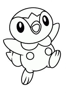 Water type Baby Pokemon Piplup Coloring Pages