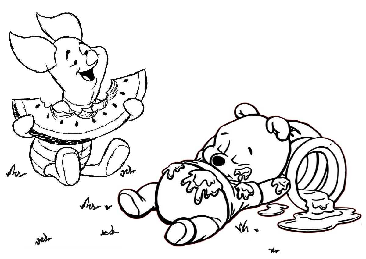 Disney Colouring Book For Kids: Winnie The Pooh Coloring Pages | 850x1200
