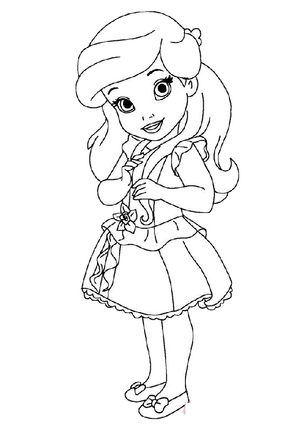 Baby Disney Princess Coloring Pages Print Color Craft