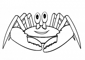 Blue King Crab Coloring Pages