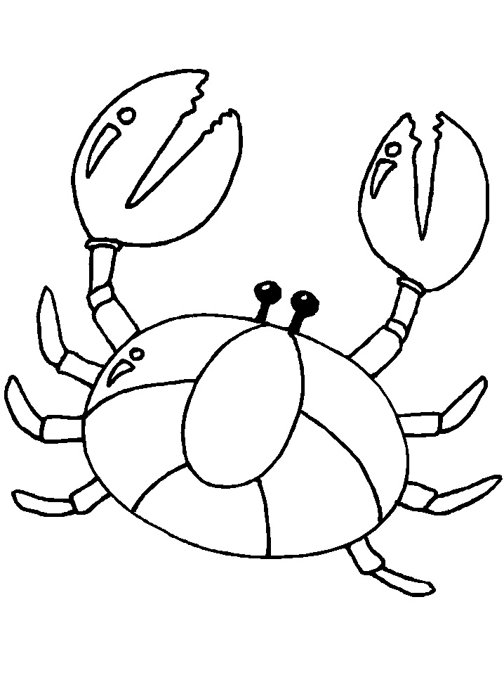 Crab Coloring Pages For Kids Free Print And Color Print Color Craft